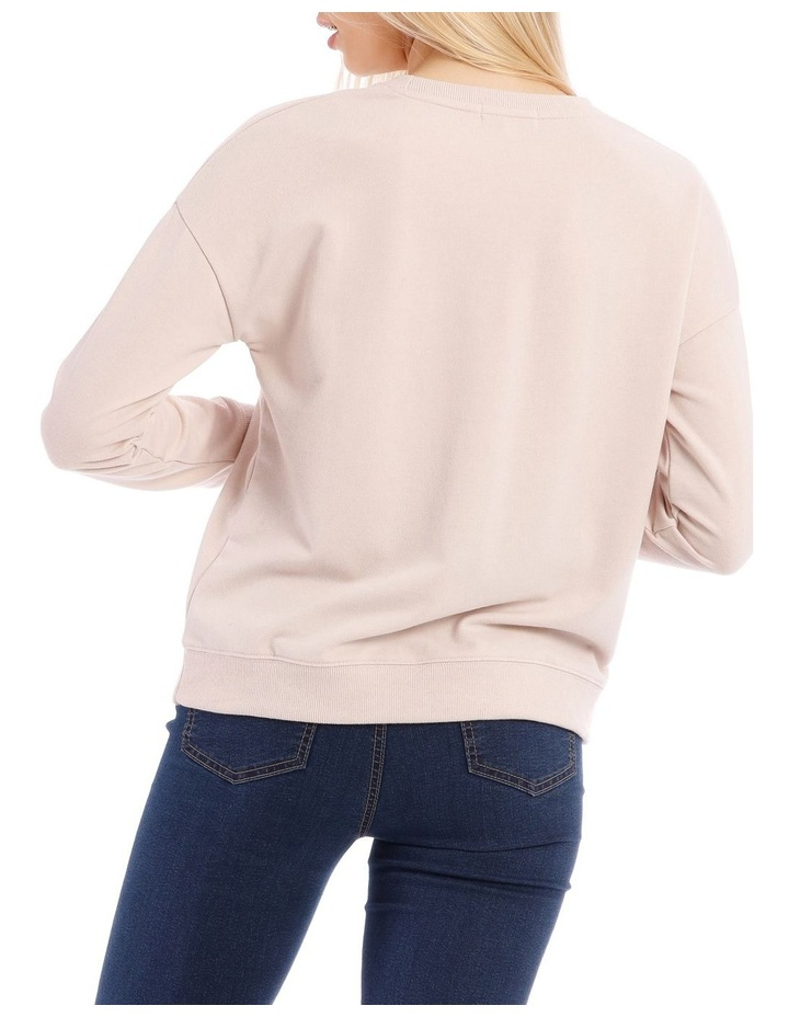 Love Sequin Font Relaxed Sweat Top image 3