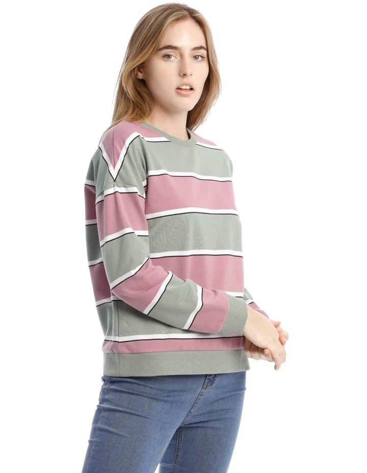 Colour Block Sweat Top image 2