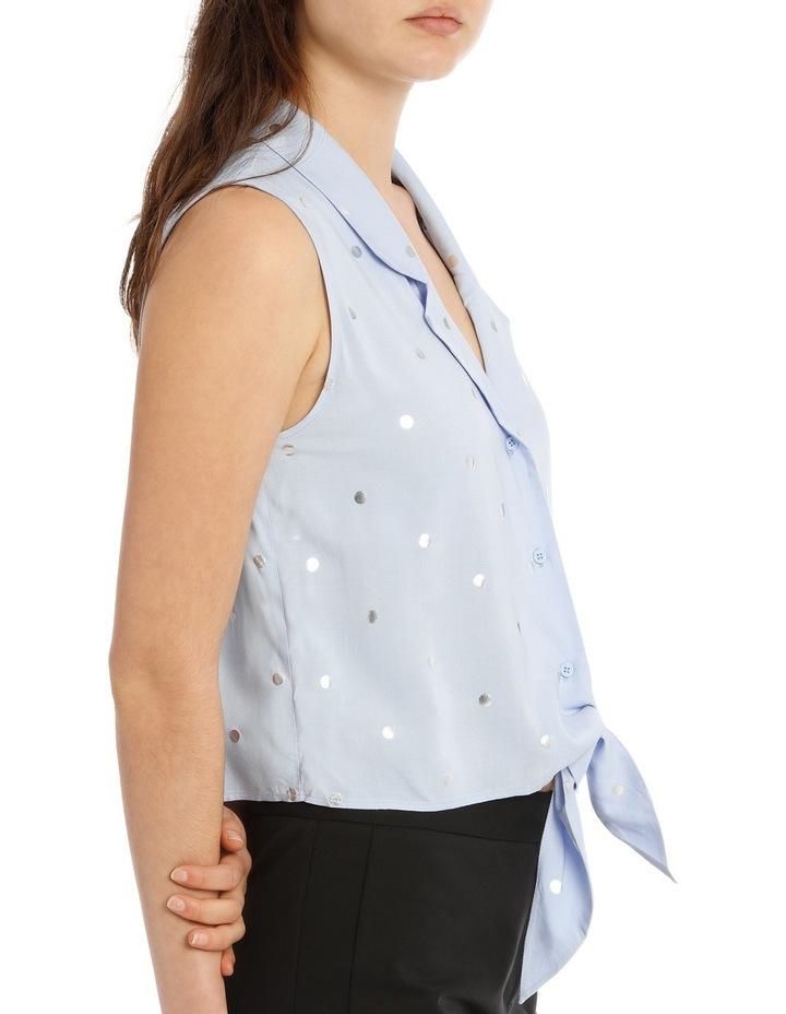 Sleeveless Tie Front Shirt image 2