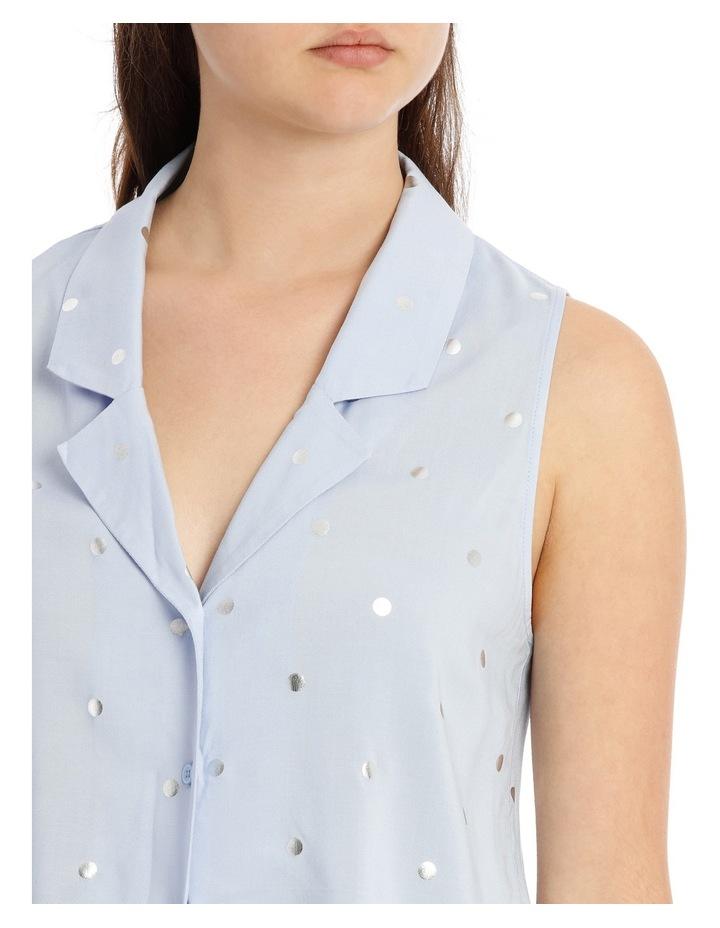 Sleeveless Tie Front Shirt image 4