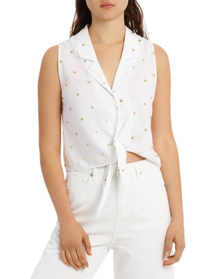 Sleeveless Tie Front Shirt image 1
