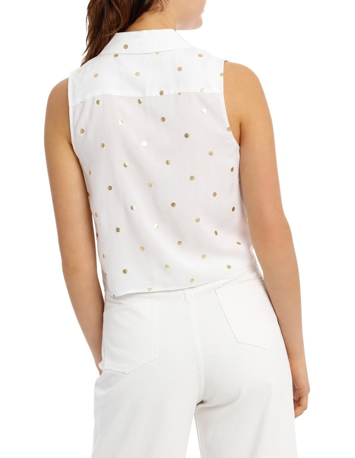 Sleeveless Tie Front Shirt image 3