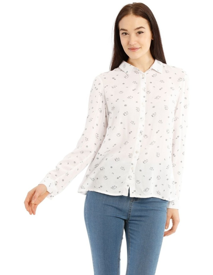 Casual Long Sleeve Shirt - Elephant Party Motif image 1