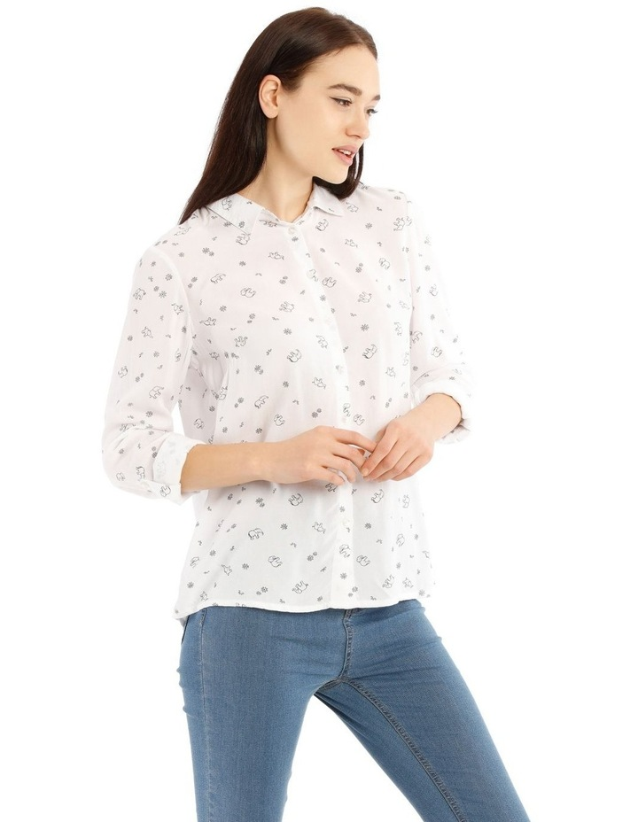 Casual Long Sleeve Shirt - Elephant Party Motif image 2