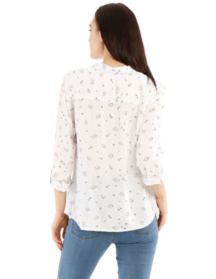 Casual Long Sleeve Shirt - Elephant Party Motif image 3