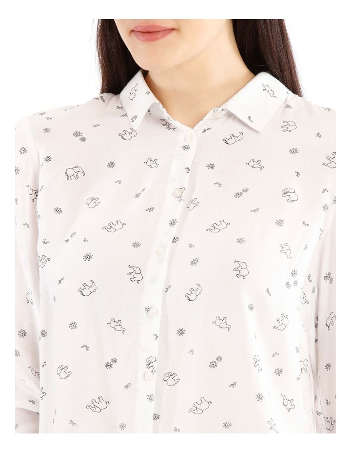 Casual Long Sleeve Shirt - Elephant Party Motif image 4