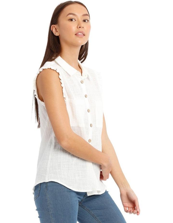 Ruffle Sleeve Tie Front Shirt image 2