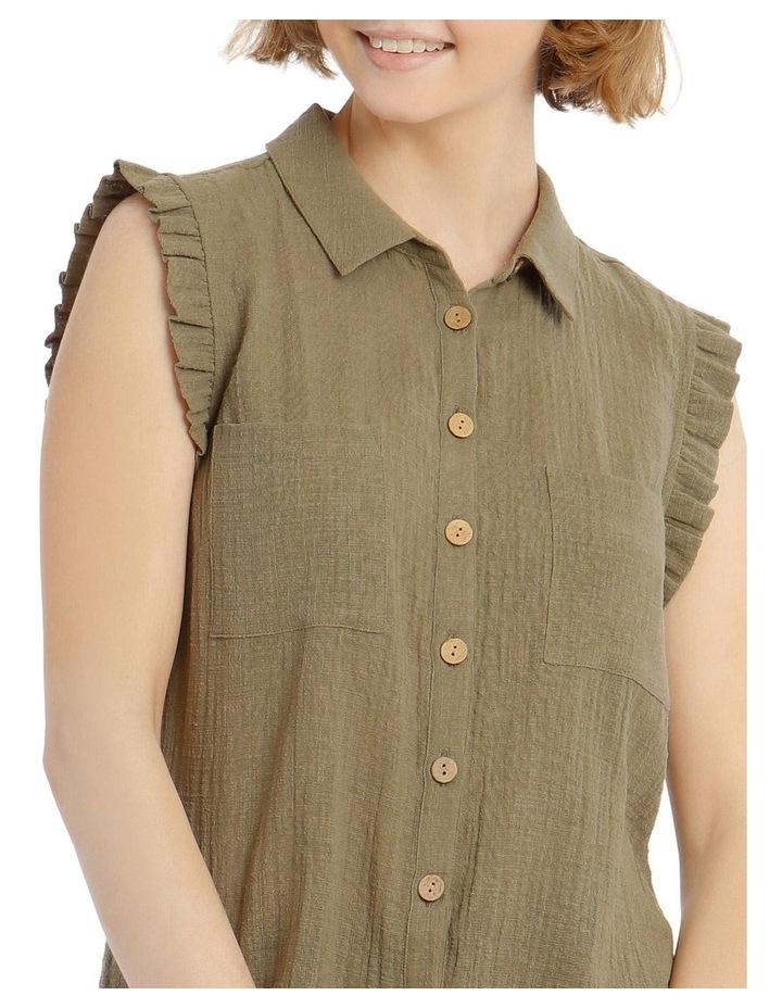 Ruffle Sleeve Tie Front Shirt image 4