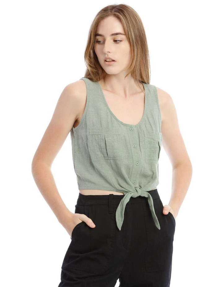 Utility Tie Front Shirt image 1