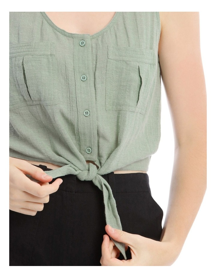 Utility Tie Front Shirt image 4
