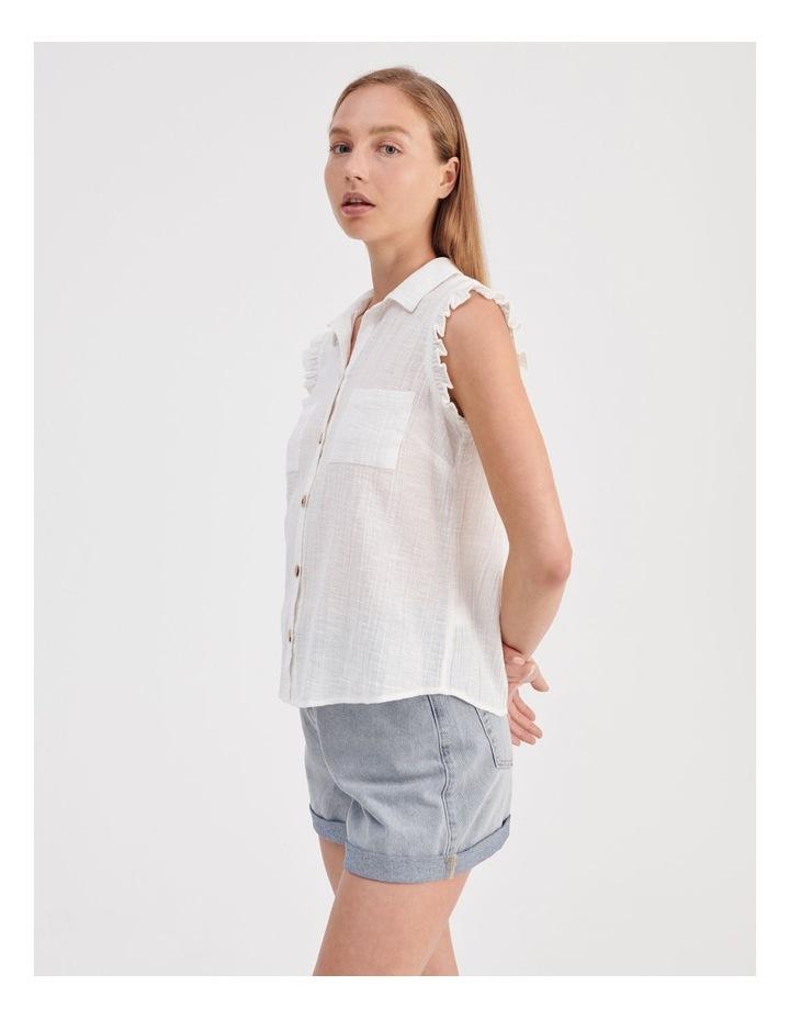 Ruffle Sleeve Tie Front Shirt image 5