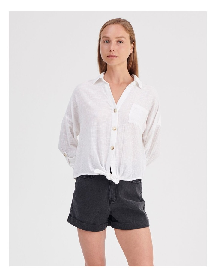 Tie Front Long Sleeve Shirt image 2