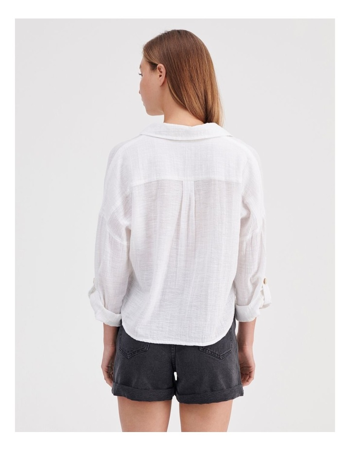 Tie Front Long Sleeve Shirt image 4