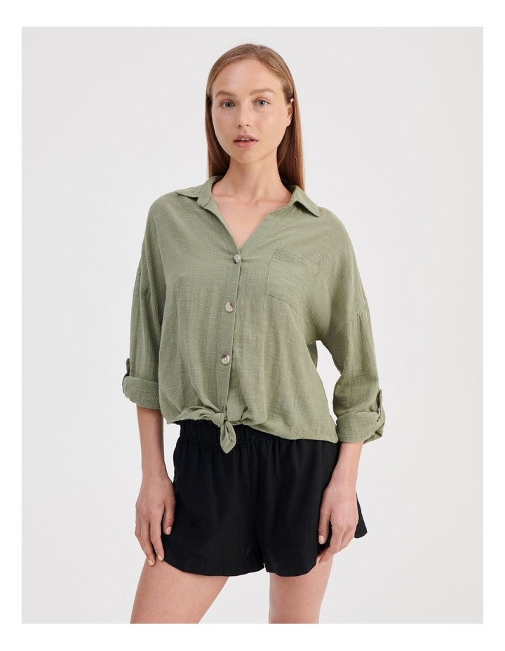 Tie Front Long Sleeve Shirt image 1