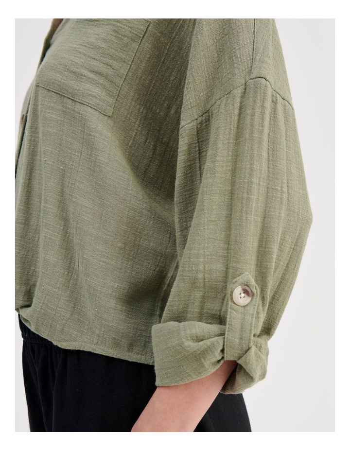 Tie Front Long Sleeve Shirt image 6