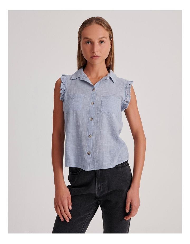 Ruffle Sleeve Tie Front Shirt image 1