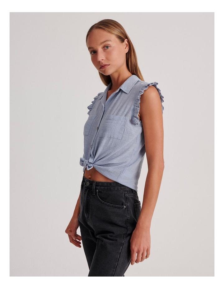 Ruffle Sleeve Tie Front Shirt image 3