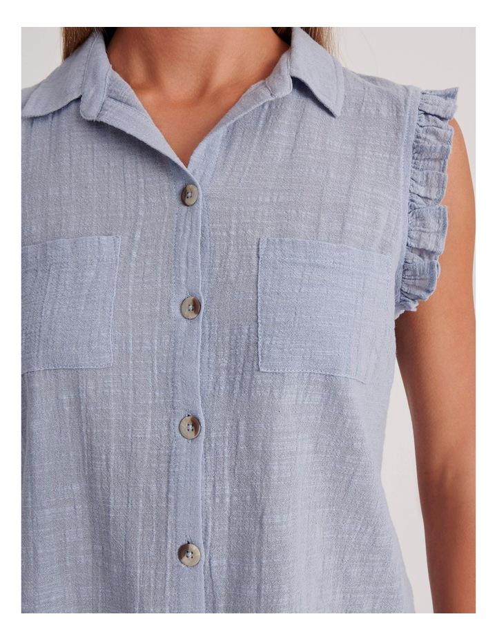 Ruffle Sleeve Tie Front Shirt image 6