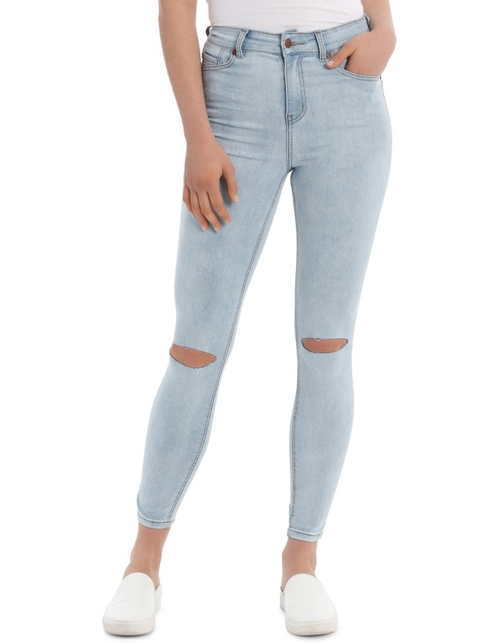 Skinny High Waist Jean - Slashed Knee image 1