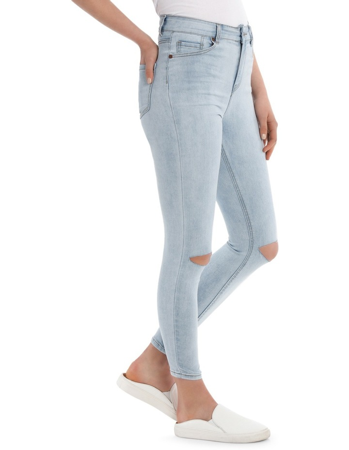 Skinny High Waist Jean - Slashed Knee image 2