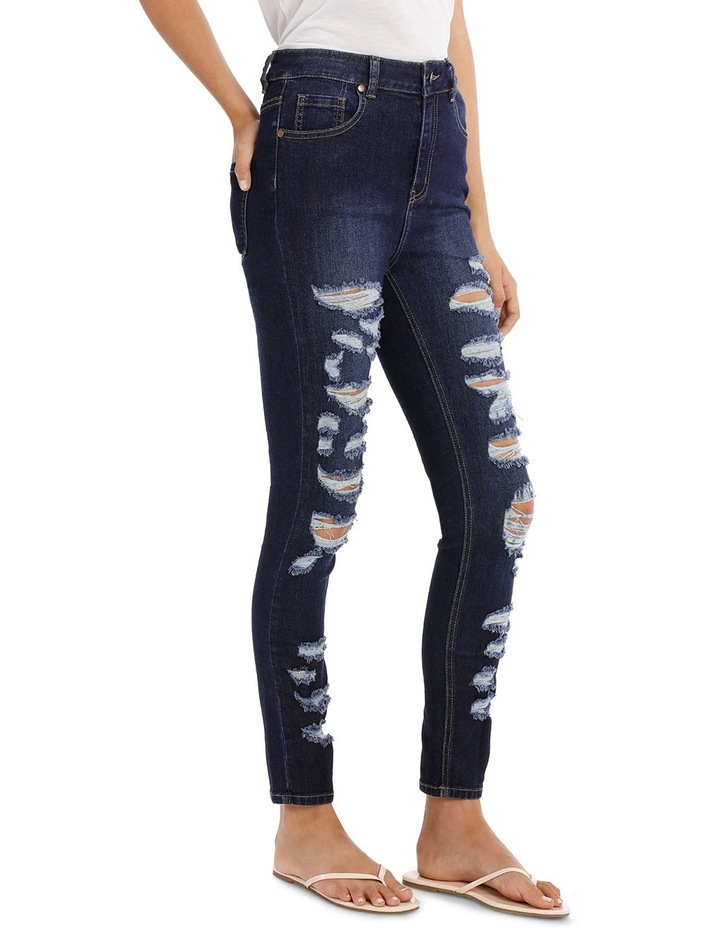 Riley Super High Waist Skinny Jean - Ripped Up image 2