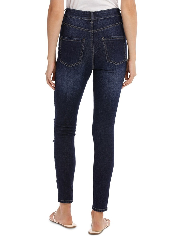 Riley Super High Waist Skinny Jean - Ripped Up image 3