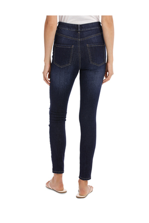 Miss Shop - Riley Super High Waist Skinny Jean - Ripped Up