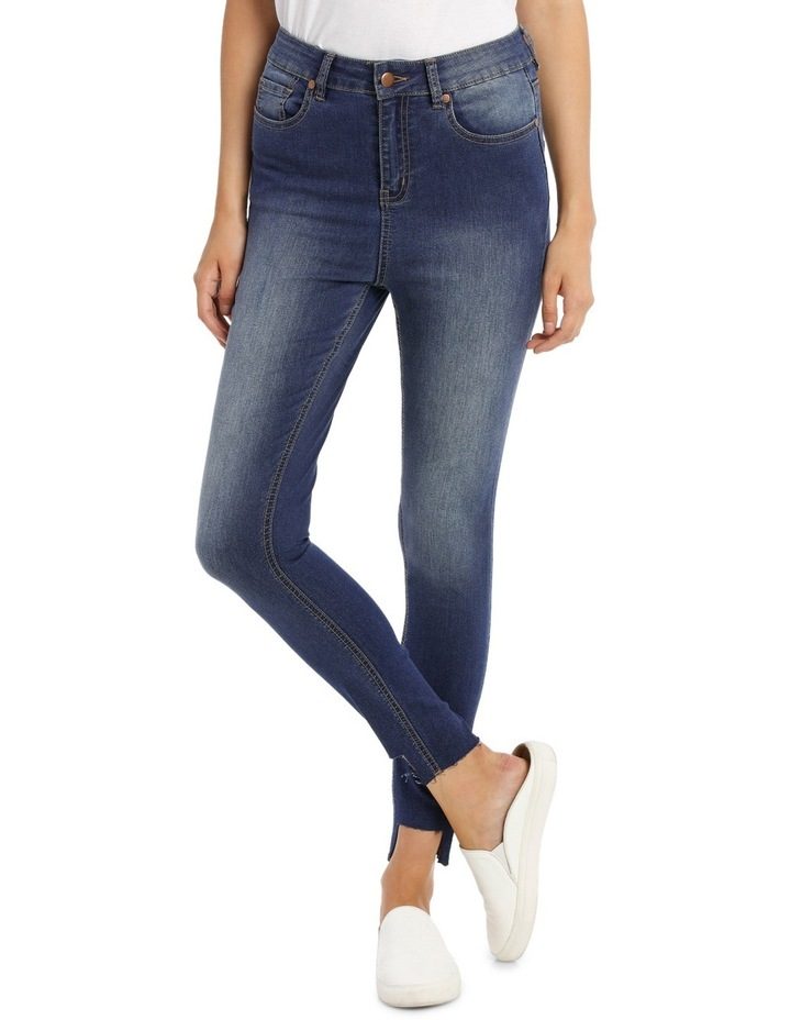 Riley Super High Waist Skinny Jean - Chopped Ankle image 1