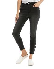 Miss Shop - Riley Super High Waist Skinny Jean - Press Stud Detail