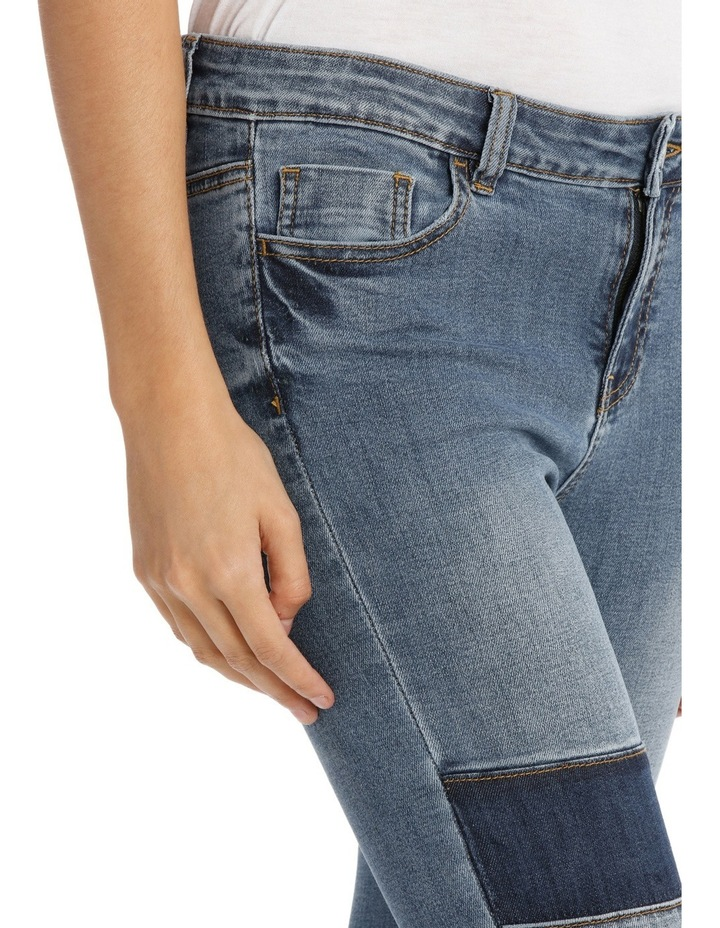 Maddy Midrise Colour Block Skinny Jean image 4