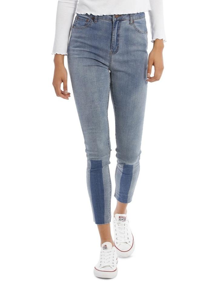 Riley Super High Waist Skinny Jean - Indigo Patch MSCW18065/K image 1