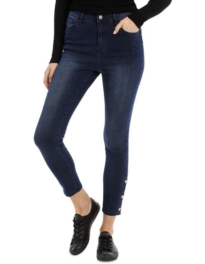 Riley Super High Waist Skinny Jean - Press Stud Detail image 1