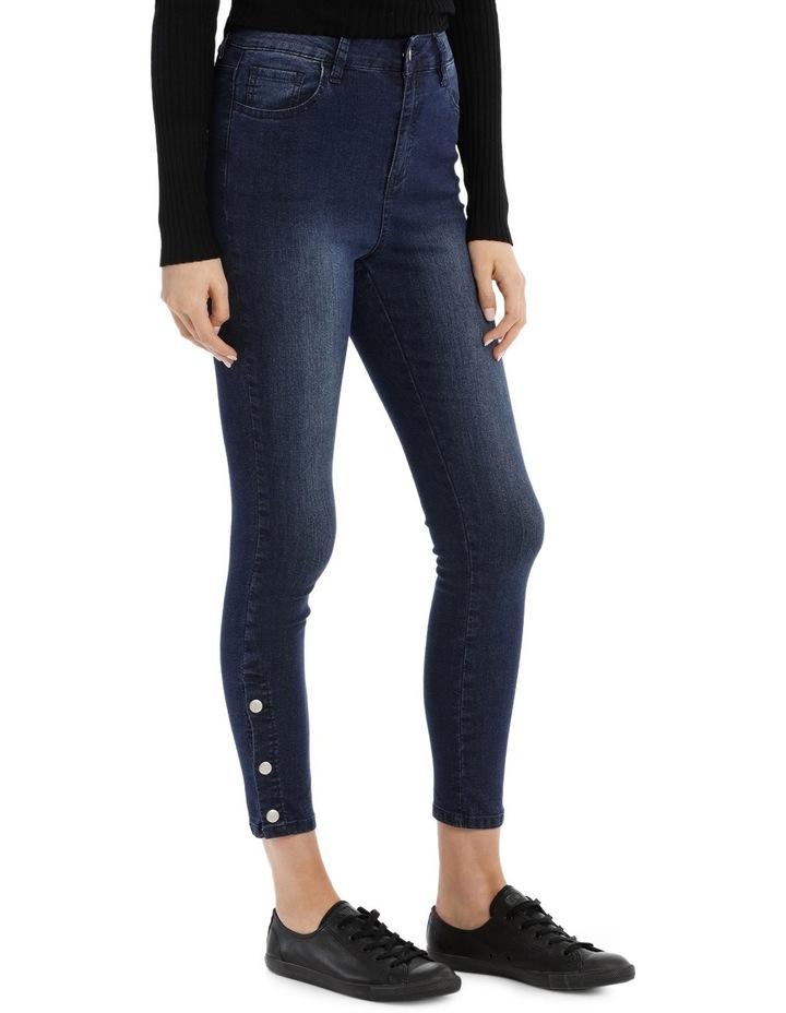 Riley Super High Waist Skinny Jean - Press Stud Detail image 2