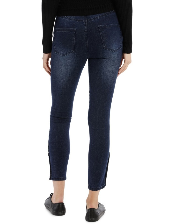 Riley Super High Waist Skinny Jean - Press Stud Detail image 3