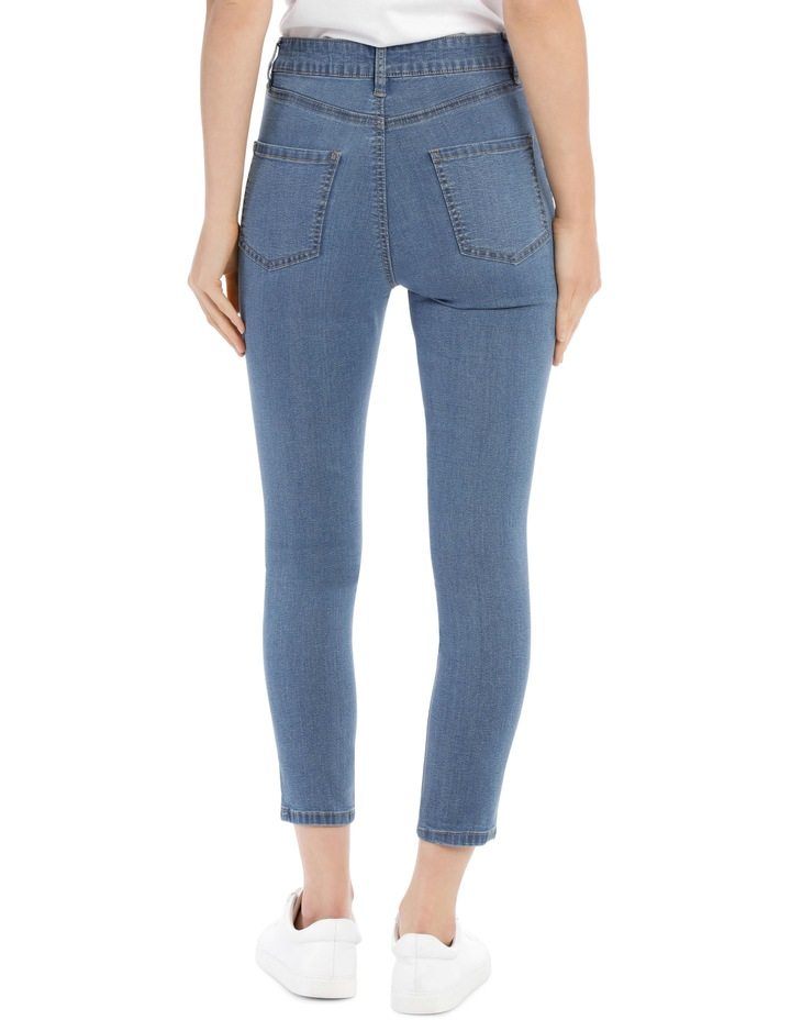 Riley High Waisted Skinny Jean Short Leg image 3