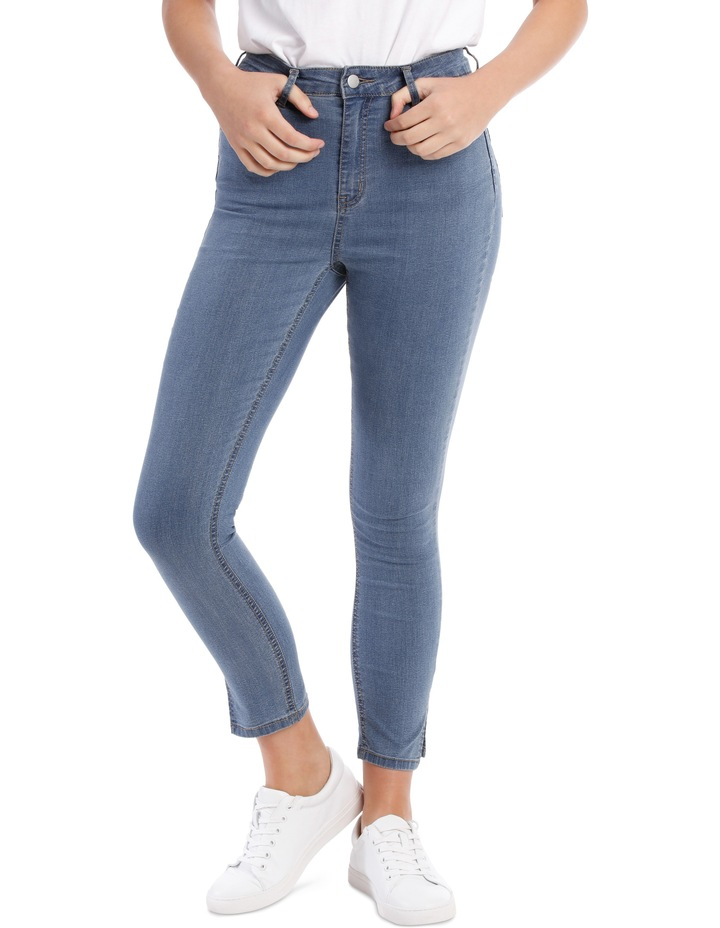Riley High Waisted Skinny Jean Side Split image 1