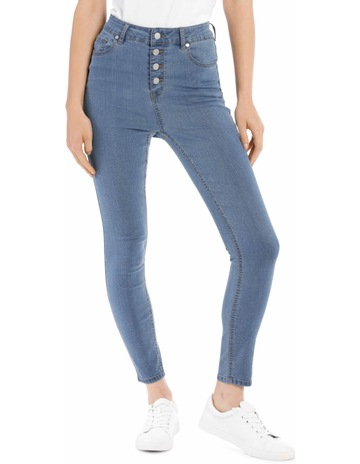db948a9e9c6 Miss ShopRiley High Waisted Skinny Jean Button Front. Miss Shop Riley High  Waisted Skinny Jean Button Front