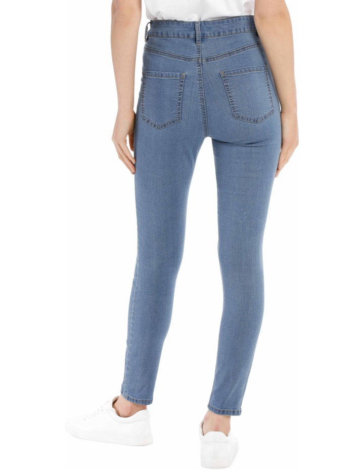 Riley High Waisted Skinny Jean Button Front image 3