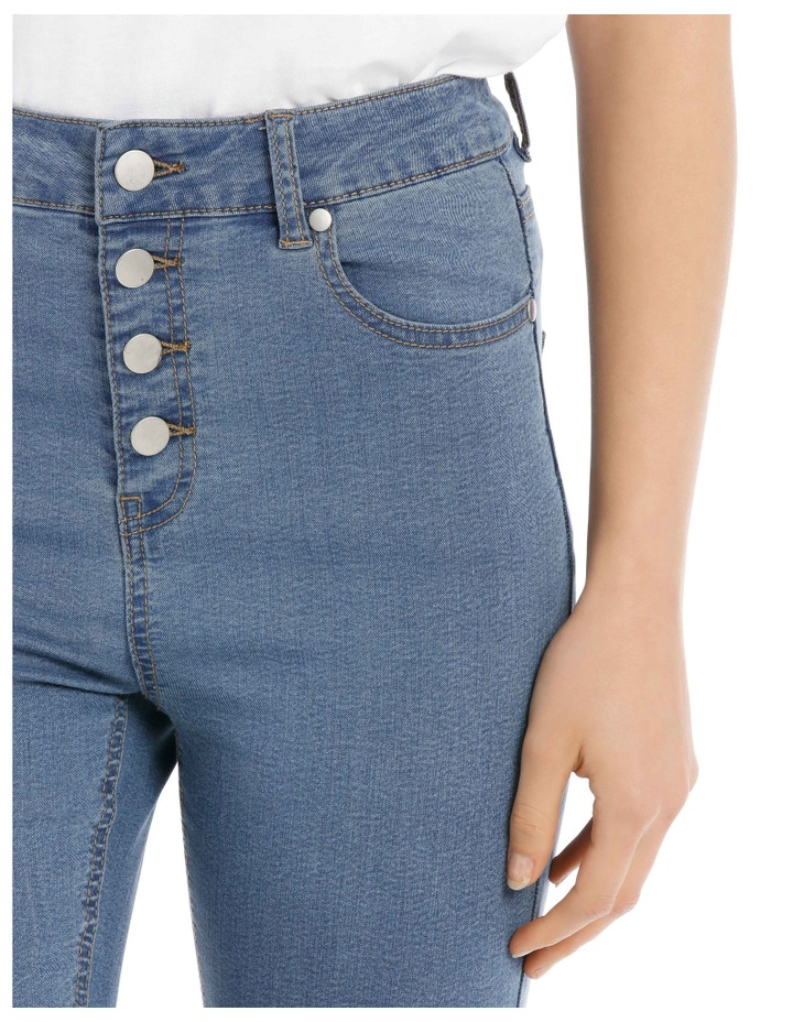 Riley High Waisted Skinny Jean Button Front image 4