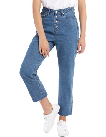 759fde72daa Miss ShopMia Straight Jean Buton Front. Miss Shop Mia Straight Jean Buton  Front. price