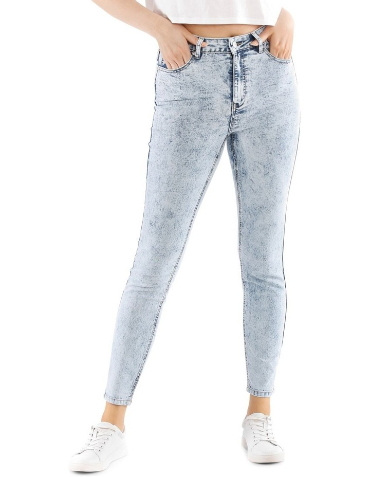 Riley High Waisted Skinny Jean Bleached image 1