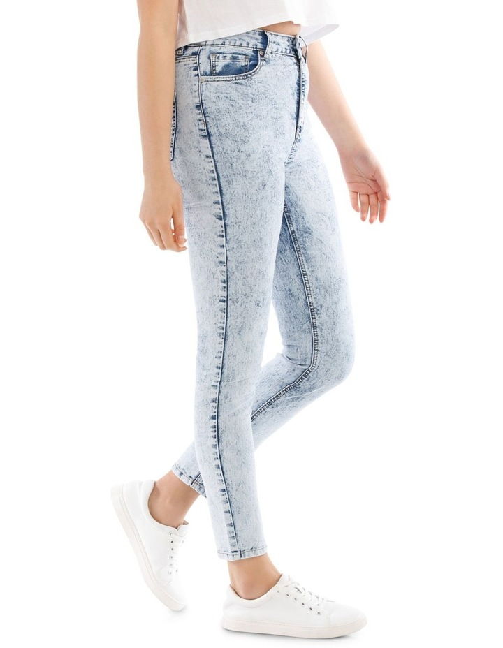 Riley High Waisted Skinny Jean Bleached image 2