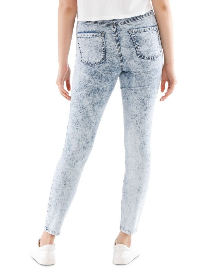 Riley High Waisted Skinny Jean Bleached image 3