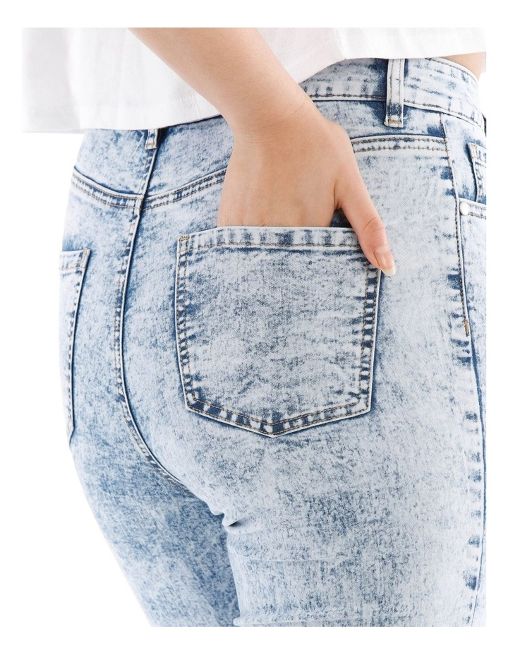 Riley High Waisted Skinny Jean Bleached image 4
