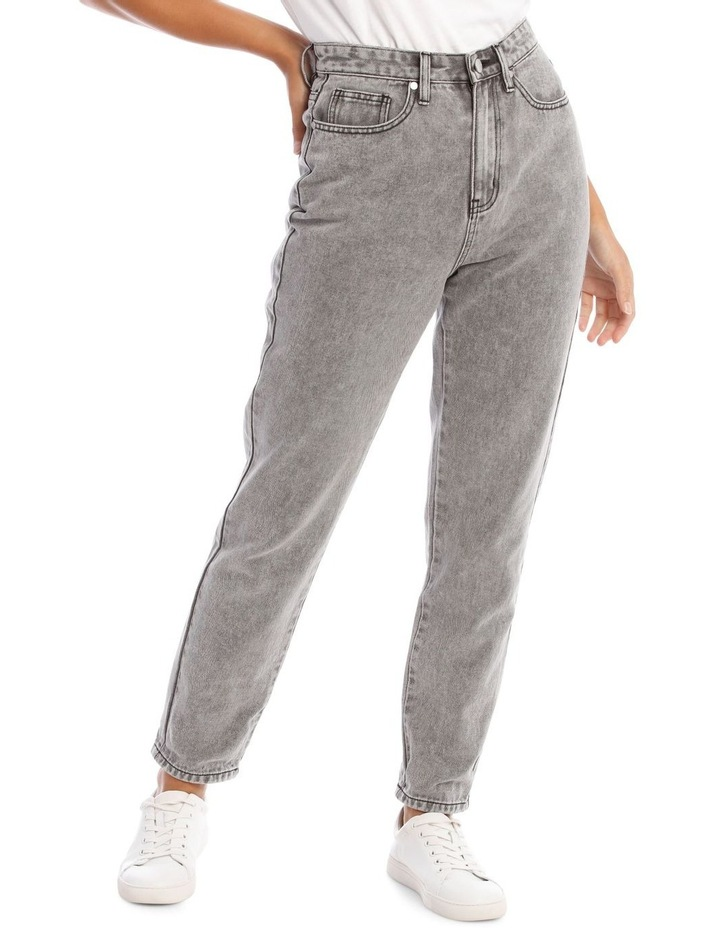Light Grey Wash Mom Jean image 1