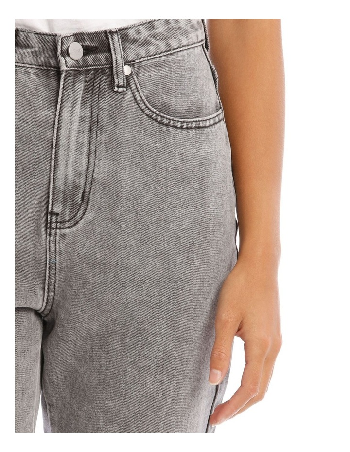 Light Grey Wash Mom Jean image 4