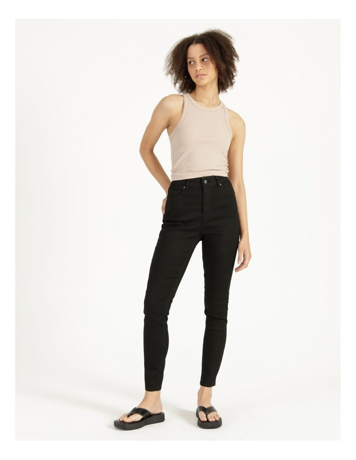 High Waist Black Skinny Jean image 1