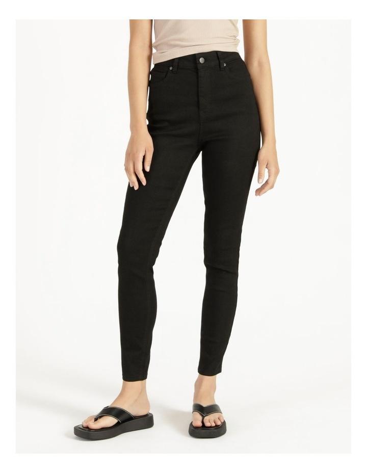 High Waist Black Skinny Jean image 2