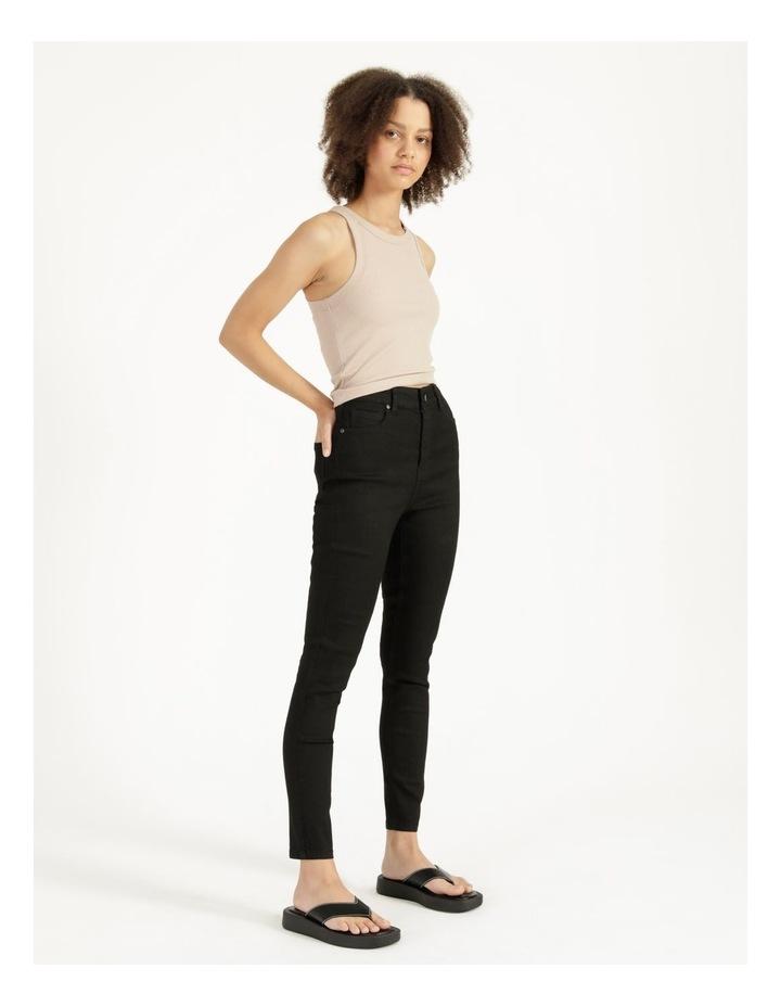 High Waist Black Skinny Jean image 3