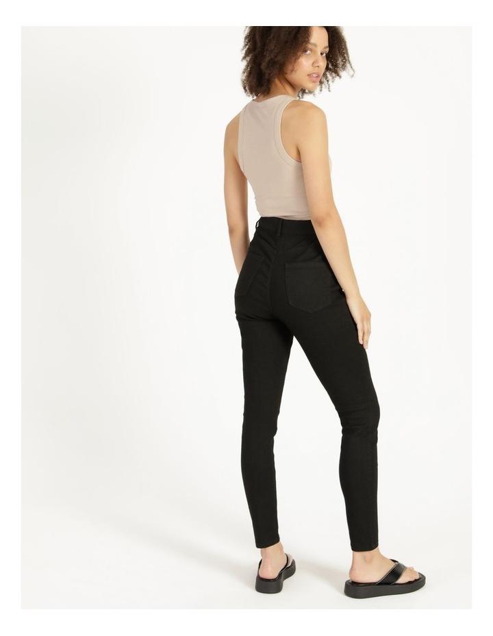 High Waist Black Skinny Jean image 4